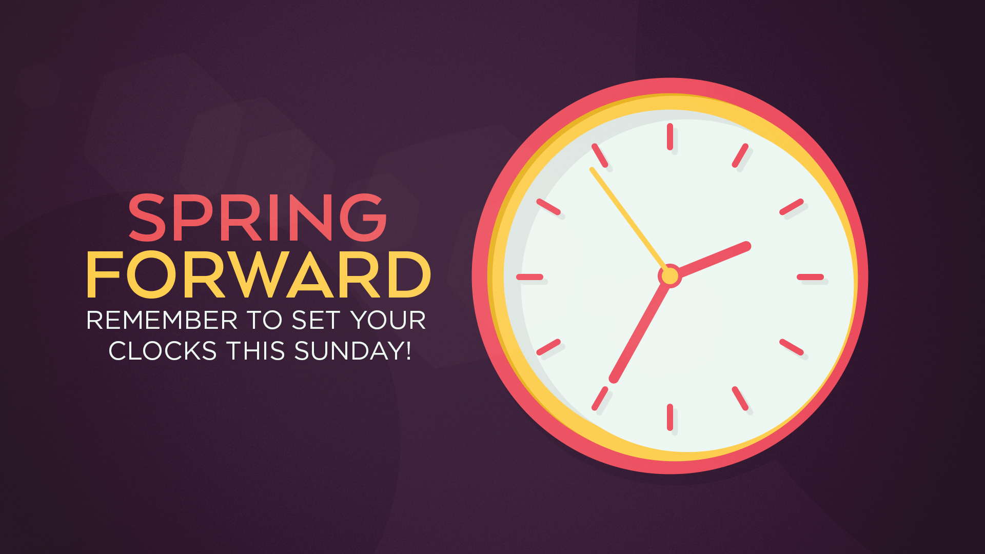 TIme Change - Spring Forward